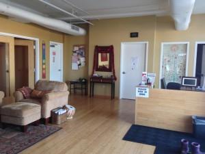 Prairie Sunshine Yoga Studio Lobby